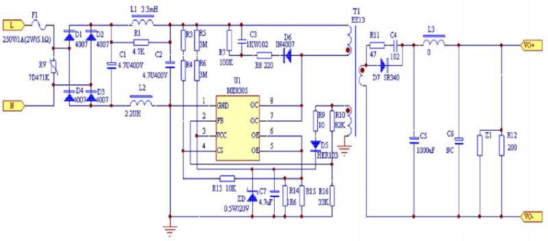 ME8305应用方案原理图
