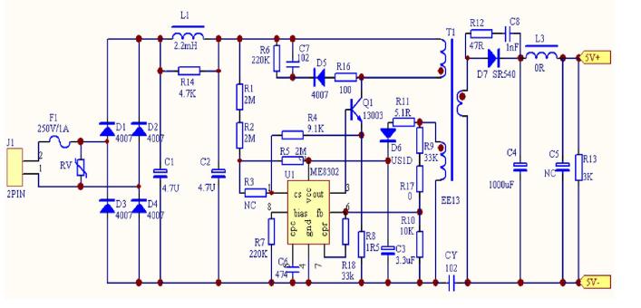 ME8302充电器应用原理图