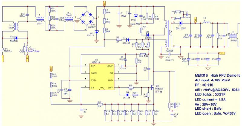 5a)led泛光灯应用方案的主要特点