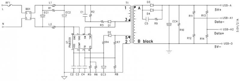 12v/1a充电器应用方案_手机产品_数码通讯产品方案