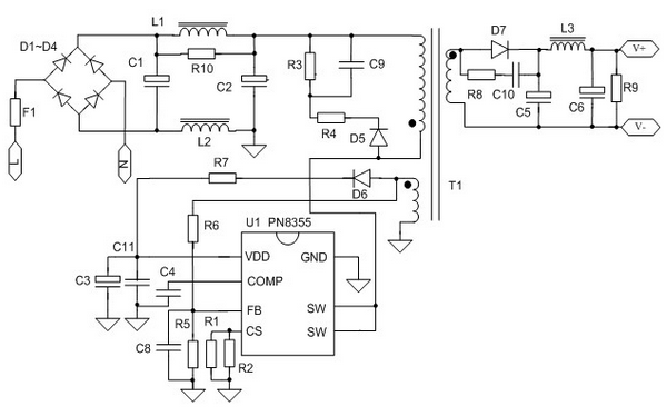 5v/1a充电器psr应用方案